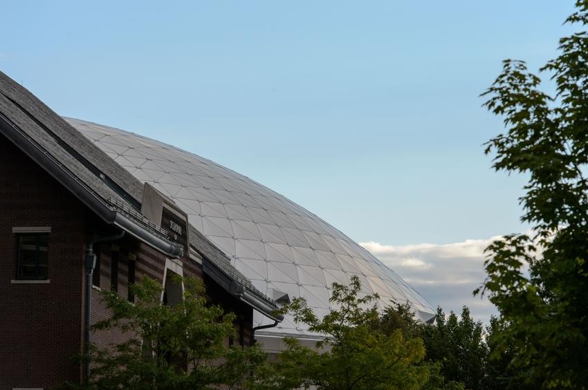 View of Gampel Pavilion